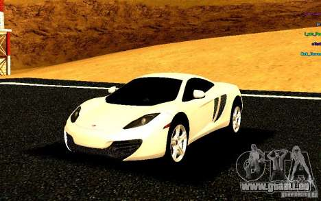 McLaren MP4-12C 2011 pour GTA San Andreas