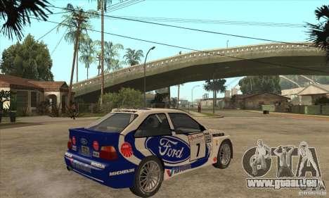Ford Escort RS Cosworth pour GTA San Andreas vue de côté