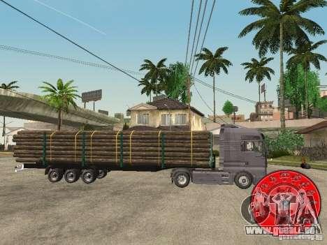 Le transporteur de bois remorque KRONE pour GTA San Andreas laissé vue