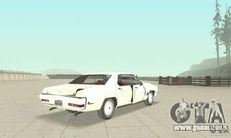 Pontiac LeMans 1971 pour GTA San Andreas vue de côté