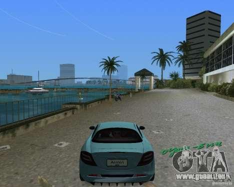 Mercedess Benz SLR Maclaren pour une vue GTA Vice City de la droite