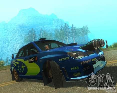 Subaru Impreza WRX STI DIRT 2 pour GTA San Andreas laissé vue