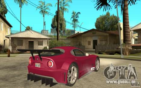 Alfa Romeo 8C GT3 RSX pour GTA San Andreas vue de droite