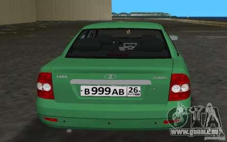 Lada 2170 Priora pour une vue GTA Vice City de l'intérieur