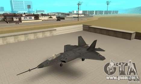 YF-22 Black für GTA San Andreas