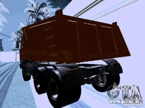 KAMAZ 54115 camion pour GTA San Andreas sur la vue arrière gauche