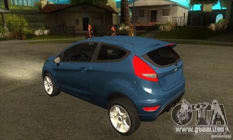 Ford Fiesta Zetec S 2009 für GTA San Andreas zurück linke Ansicht