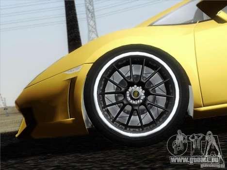 Lamborghini Gallardo LP640 Vallentino Balboni pour GTA San Andreas vue intérieure