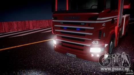 Scania Fire Ladder v1.1 Emerglights blue [ELS] pour GTA 4 est un côté