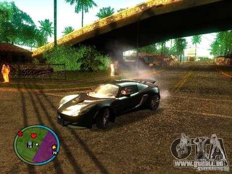 Lotus Exige - Stock pour GTA San Andreas sur la vue arrière gauche