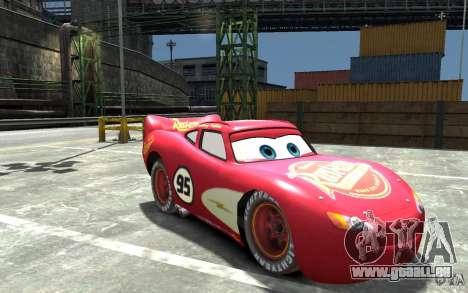 Lighting McQueen für GTA 4 Rückansicht