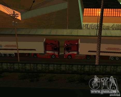 Scania TopLine pour GTA San Andreas vue intérieure