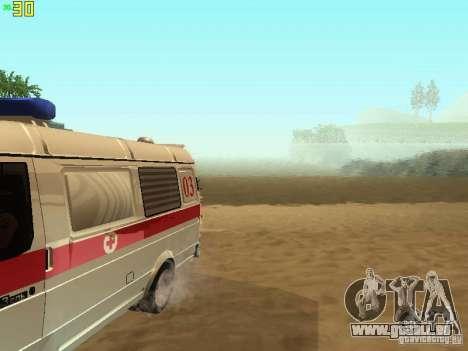 Gazelle 32214 Ambulance pour GTA San Andreas vue intérieure