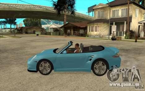 Porsche 911 Cabriolet 2010 für GTA San Andreas linke Ansicht