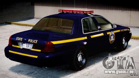 Ford Crown Victoria New York State Patrol [ELS] pour GTA 4 Salon