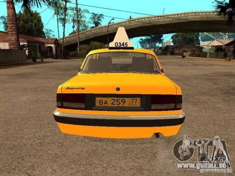 Volga GAZ-31105 Taxi pour GTA San Andreas salon
