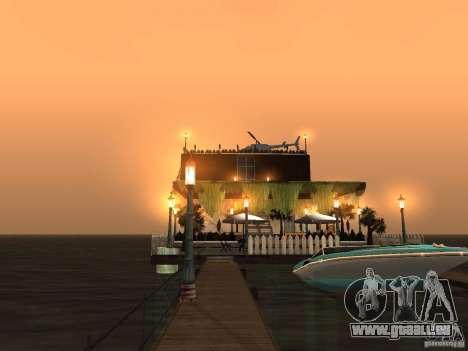 Club auf dem Wasser für GTA San Andreas achten Screenshot