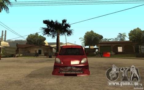 Renault Kangoo Tuning pour GTA San Andreas vue de droite