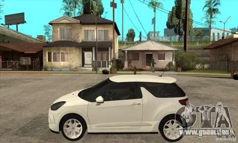 Citroen DS3 2010 pour GTA San Andreas laissé vue