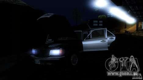 Mercedes Benz 560SEL w126 1990 v1.0 für GTA San Andreas Unteransicht