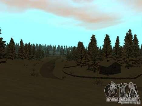 Sentier d'hiver pour GTA San Andreas cinquième écran
