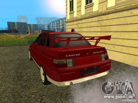VAZ 2110 pour GTA San Andreas vue de droite