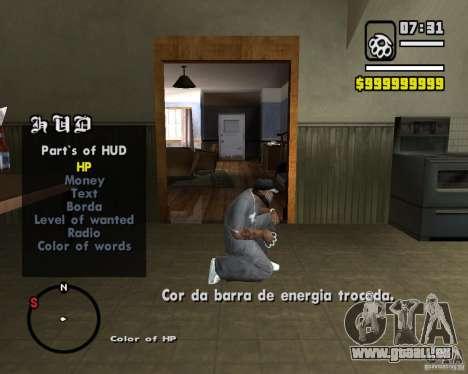 Change Hud Colors pour GTA San Andreas troisième écran