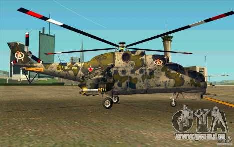 Mil Mi-24 für GTA San Andreas zurück linke Ansicht