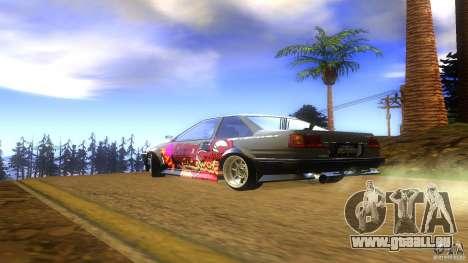 Toyota AE86 Coupe - Final pour GTA San Andreas laissé vue