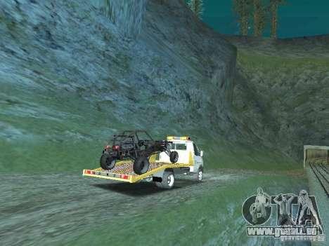GAZ 3302 2003-2011. Dépanneuse pour GTA San Andreas sur la vue arrière gauche