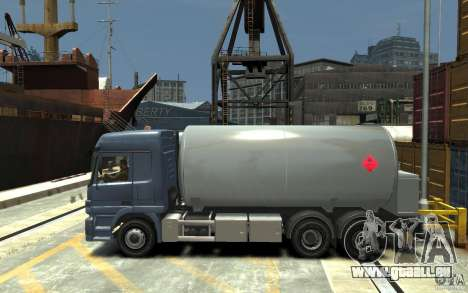 Mercedes Benz Actros Gas Tanker für GTA 4 linke Ansicht