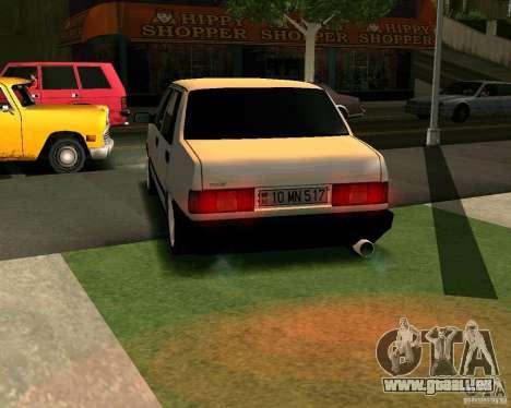 Tofas Dogan Azerbaycan pour GTA San Andreas sur la vue arrière gauche