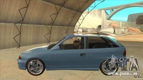 Opel Astra F Tuning pour GTA San Andreas laissé vue