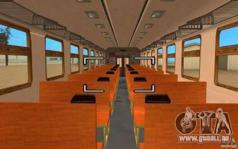 Train ER2-K-1321 pour GTA San Andreas sur la vue arrière gauche