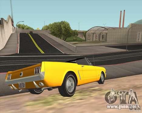 Ford Mustang 289 1964 pour GTA San Andreas vue arrière