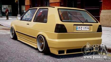 Volkswagen Golf MK2 Tuning pour GTA 4 est un droit