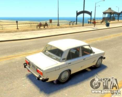 VAZ-2106 pour GTA 4 Vue arrière de la gauche