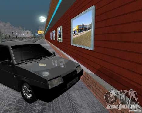 VAZ 2109 Spoutnik pour GTA San Andreas vue arrière
