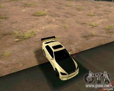 LEXUS IS300 Light tuned pour GTA San Andreas sur la vue arrière gauche