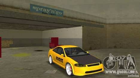 Honda Accord Coupe Tuning pour GTA Vice City vue arrière