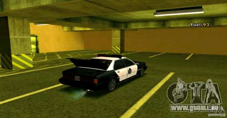 Sentinel Police LV für GTA San Andreas Rückansicht