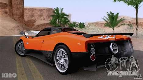 Pagani Zonda F pour GTA San Andreas vue intérieure