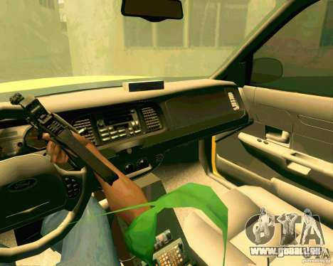 Ford Crown Victoria 2003 NYC TAXI pour GTA San Andreas vue intérieure
