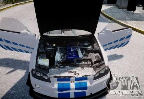 Nissan Skyline GT-R R34 2F2F für GTA 4 Innenansicht