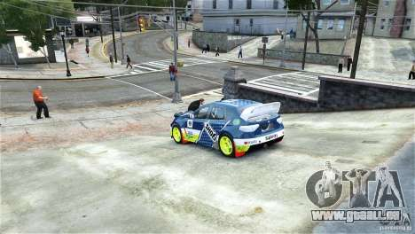Subaru Impreza WRX STI Rallycross SHOEL Vinyl für GTA 4 linke Ansicht