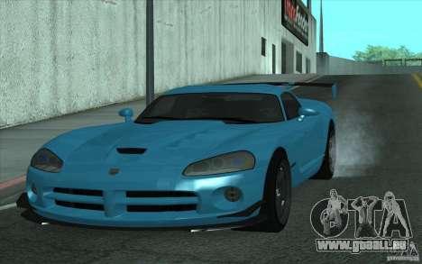 Dodge Viper SRT10 ACR pour GTA San Andreas laissé vue