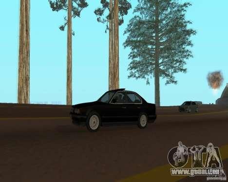 BMW 535i e34 pour GTA San Andreas vue arrière