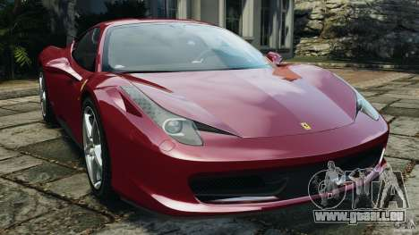 Ferrari 458 Italia 2010 v2.0 pour GTA 4