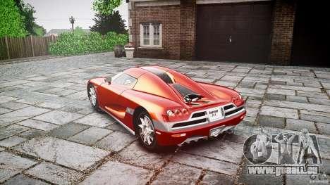 Koenigsegg CCX v1.1 pour GTA 4 est une vue de l'intérieur
