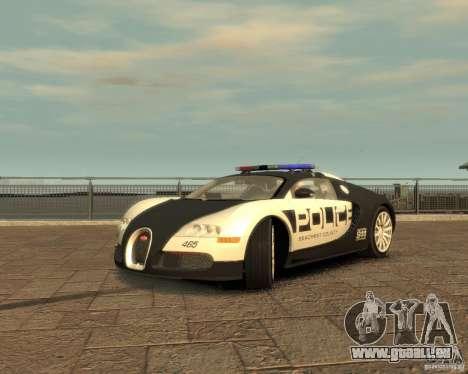 Bugatti Veyron Police [EPM] für GTA 4 rechte Ansicht